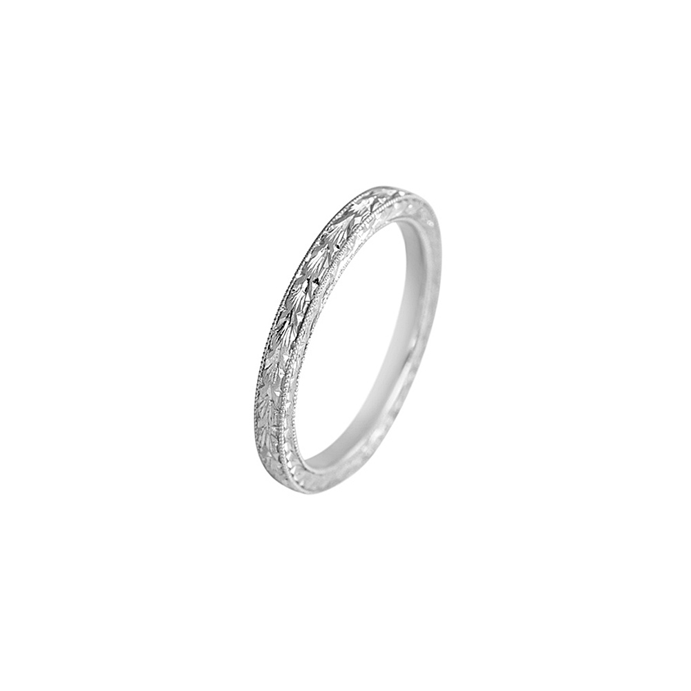 Hand Engraved Wedding Band 2296