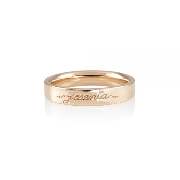 Men's Wedding Band with Name for Marcus-0