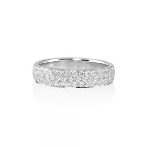 Pavé Diamond Wedding Band for Molly-0