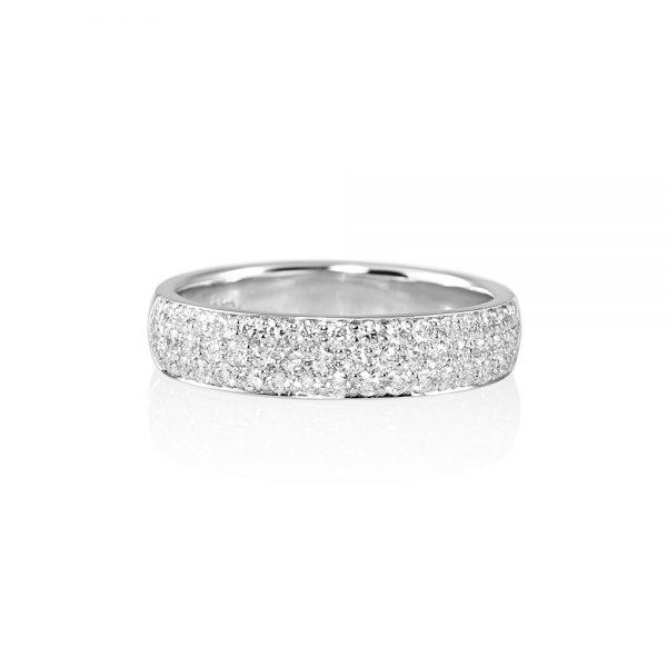 Pavé Diamond Wedding Band for Molly-0
