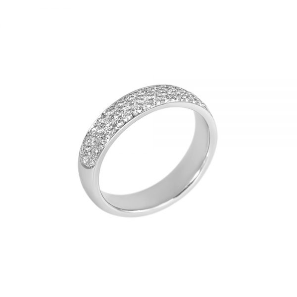 Pavé Diamond Wedding Band for Molly-2186