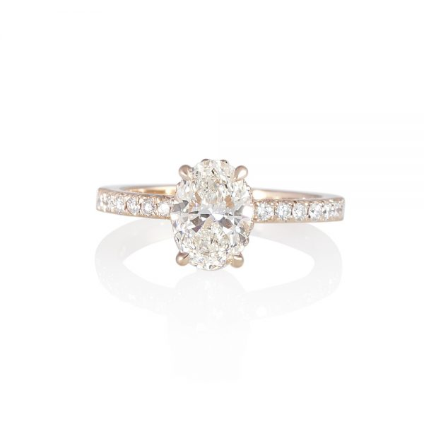 Rose Gold and Oval Diamond Engagement Ring for Taliana-0
