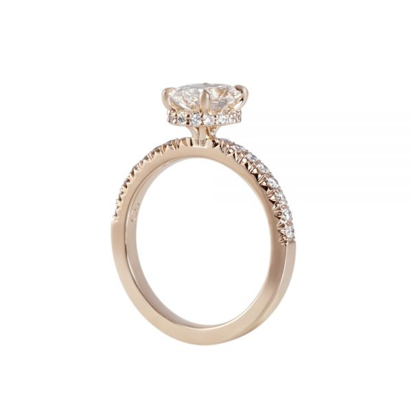 Rose Gold and Oval Diamond Engagement Ring for Taliana-2182