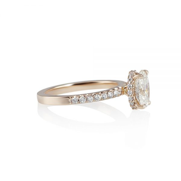 Rose Gold and Oval Diamond Engagement Ring for Taliana-2181
