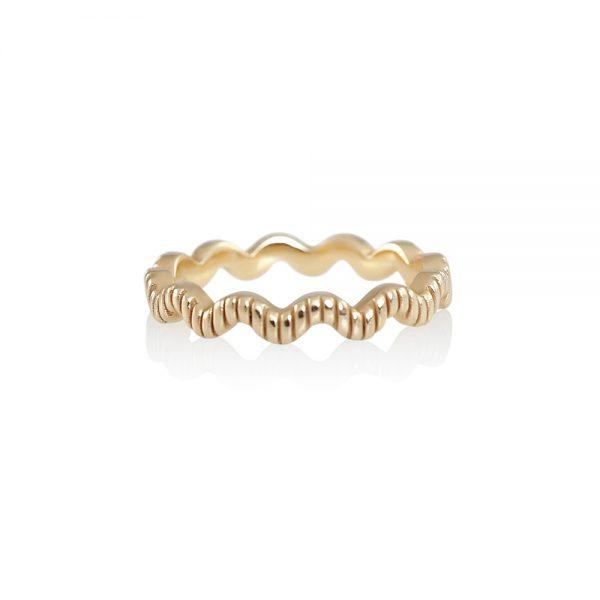 Rose Gold Wave Ring-0