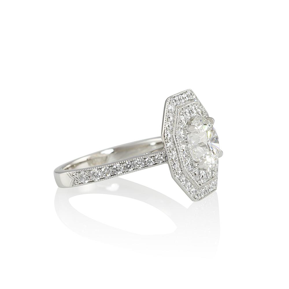 Double Octagon Halo Diamond Ring For Liz Cynthia Britt