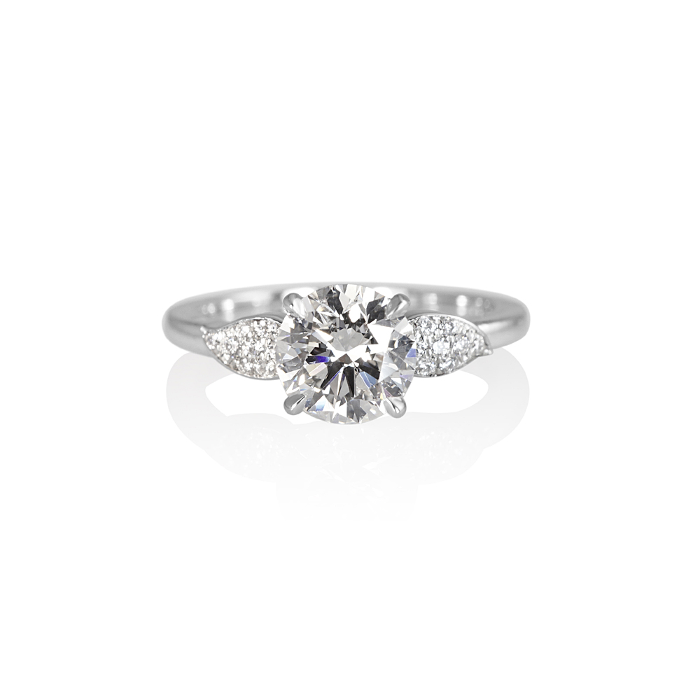 Diamond Leaf Engagement Ring for Sara  838f39dd53