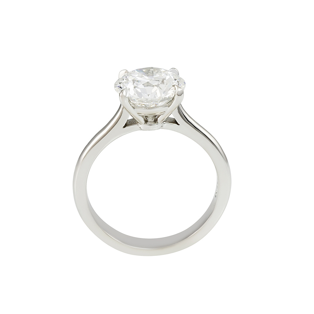moissanite center abigail cathedral ring products setting engagement rings diamond