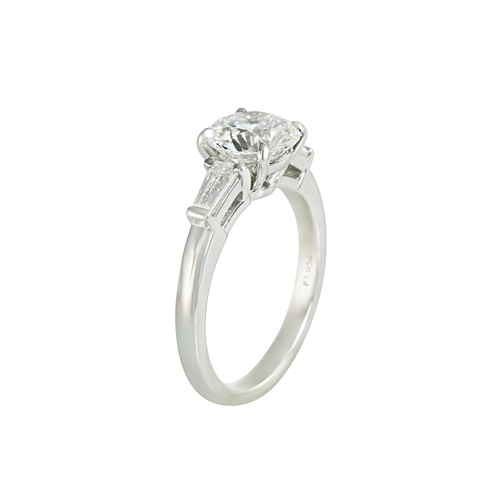 Round and Baguette Cut Engagement Ring for Jenny | Cynthia ...