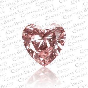 4e6501937 Fancy Pink 0.19 carat Heart Shaped Diamond