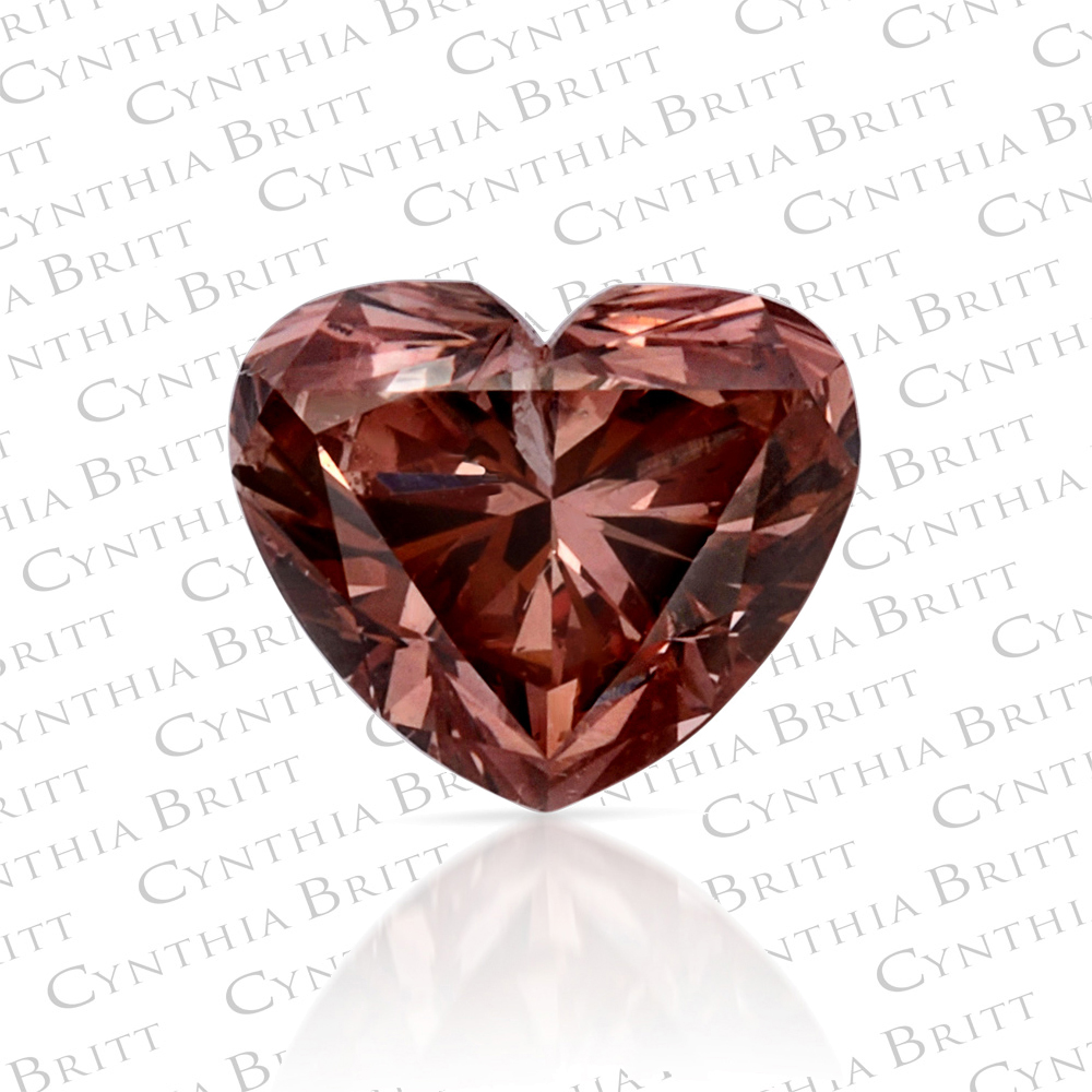 0.37-carat Fancy Deep Brownish Orangy Pink Heart Argyle Mine Diamond